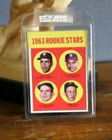 Vtg 1963 TOPPS #169 GAYLORD PERRY GIANTS ROOKIE STARS Baseball card ESTATE FIND