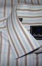 EXTRA NICE DAVID DONAHUE STRIPED DRESS SHIRT 16 1/4 34