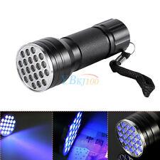 21 LED UV Ultra Violet Blacklight AAA Flashlight Torch Light Inspection Outdoor