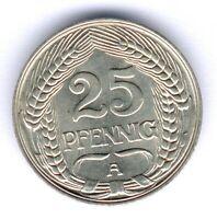 Deutsches Reich 25 Pfennig 1911 A. (Ni.) Jaeger 18, winz. f.kl. Krat.,fast vz/st