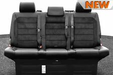 NEW VW CARAVELLE EXECUTIVE T5 T6 ALCANTARA LEATHER REAR TRIPLE BENCH SEAT / BED