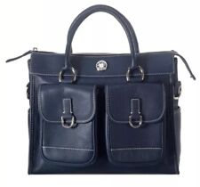 Dooney & Bourke Leather Double Pocket Tote With Feet In Black Excellent