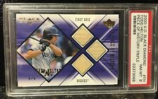 2000 BLACK DIAMOND TODD HELTON PIECE OF HISTORY TRIPLE BAT CARD 1/1