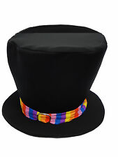 BAMBINO Willy Wonka Tall TOP HAT Costume libro settimana con libero GOLDEN TICKET UK
