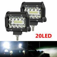 2pcs LED Arbeitsscheinwerfer Zusatzscheinwer Flutlicht Offroad Driving Fog Lampe