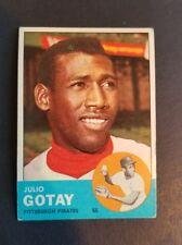 ORIGINAL VINTAGE 1963 TOPPS BASEBALL PITTSBURGH PIRATES #122 JULIO GOTAY EXCELLE
