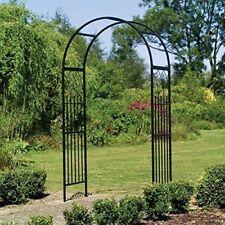 Garden Archway Arch Arbor Trellis Steel Westminster Frame Black Yard Decor Iron