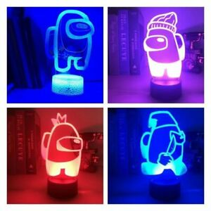 Among Us Game USB 3D Lamp LED Night Light Table Lamp For Bedroom Kids Gamer Gift