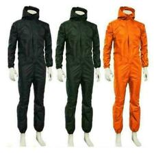Unisex waterproof One-piece Work Hooded Coveralls Overall Jumpsuit Boilersuit aa