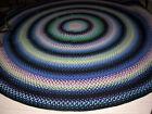 Vintage Large Antique Hand Made Circle Wool  Braided Rug 10' Diameter