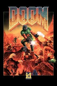 Doom Classic Game Poster |5 Sizes| PC Box BFG 64 Atari Xbox PS4 3DO Sega