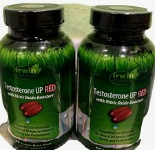 2/Testosterone UP RED by Irwin Naturals, with Nitric Oxide Boosters 2-in-1 & 60!