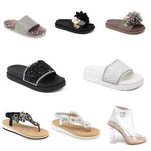 Damen Plateau Pantoletten Sommer Sandalen Sandaletten Angebot Freizeitschuhe