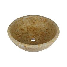 Stone Vessel Bathroom Sink - Dessert Marble