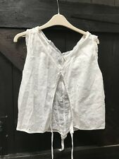 MAGNOLIA PEARL White Cotton Anglaise detail blouse top OS One Size