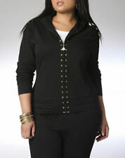 NWT DEREON Studded gold  Active Jacket Hoody Hoodie 2X 18 20