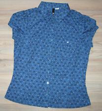 Mittelblaue Bluse Gr. 38