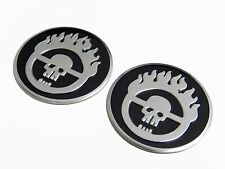 2 MAD MAX SKULL THIN ALUMINUM EMBLEMS LOGO BADGES