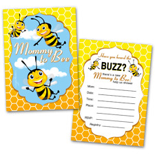 20 Baby Shower Cards and 20 Envelopes 'Mommy to Bee'