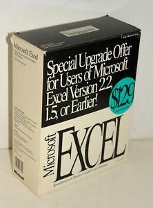 Microsoft Excel 3.0 Upgrade Software Package 24991 for Vintage Apple Macintosh