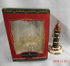 2000 Thomas Kinkade / Kurt Adler Lighthouse Christmas Ornament Nib
