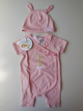 BABY TODDLER GIRL SET OUTFIT CLOTHES COVERALL ROMPER HAT SIZE 0 *NEW