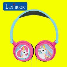 Lexibook Kids Unicorn Foldable Stereo On Ear Headphones with Volume Limiter