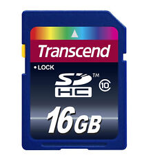 Transcend 16GO SDHC Classe 10 Premium Carte Mémoire (TS16GSDHC10)