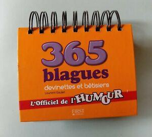 Livre 365 blagues devinettes et bêtisiers Laurent Gaulet