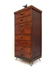 RARE ABBESS VINTAGE RETRO TALLBOY CHEST OF DRAWERS HAIRPIN LEGS 1940s
