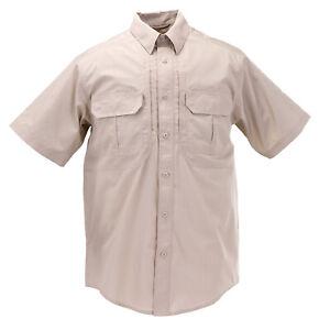 Men 5.11 Tactical TacLite Pro Short Sleeve Shirt Style 71175 Sz Large Tall Khaki