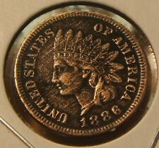 1886~~TYPE 1~~INDIANHEAD CENT~~XF-AU