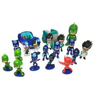 PJ Masks Bundle Bulk Lots Vehicles & Figures 17 Toy Figurines and 2 Cars Used