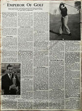 Henry Cotton Emperor of Golf, Open Golf Championship Vintage Sport Article 1948