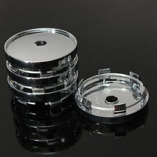 4x 60mm Wheel Center Caps Car Modification Hub Caps Flat Face Blank Replacement
