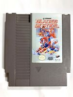 BLADES OF STEEL Original Nintendo NES Game Tested + Working & Authentic!