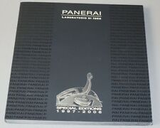 Officine Panerai Watch Special Editions 1997 - 2006 Catalogue 140 Pages NEW