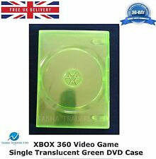 Xbox 360 Video Game Single DVD Case Translucent Green Replacement Cover NEW