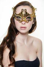 Elegant Gold w/ Rhinestones Venetian Laser Cut Masquerade Mask BD003GD Prom