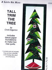 Tall Trim the Tree - fun Christmas foundation pieced wall quilt PATTERN