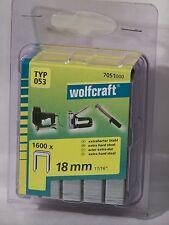 Tacker  Klammern  Typ 53  Wolfcraft  18mm  1600 Stück  für  Bosch  Rapid  Novus