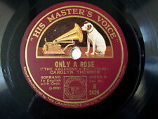 "78 rpm 10"" DENNIS KING only a rose / song of the"