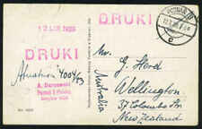 POLAND 1929 POZNAN TO NEW ZEALAND POST CARD