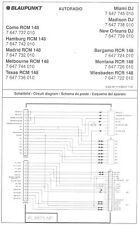 Blaupunkt ORIG. Service Manual per car Como RCM 148 DJ