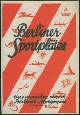 Berliner instalaciones deportivas en el año 1928 stadplan Berlín Sport campo de deportes fútbol etc