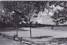 Postcard RPPC MAUTHE LAKE  WI Bathing Beach unused lifeguard stand