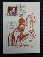 AUSTRIA MK 1972 1397 REITSCHULE MAXIMUMKARTE MAXIMUM CARD MC PFERD HORSE a8529
