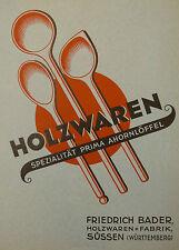 Original Katalog,Musterheft,Prospekt,Holzwaren,Friedrich Bader,Süssen,1939