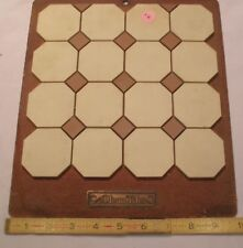 Vintage Ceramic Tile *American Olean* 1950's  Sample colors on masonite board 16