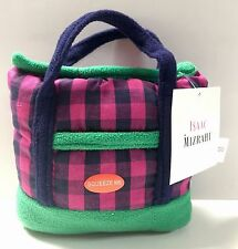 Pet Lovers - Isaac Mizrahi Gingham Designer Tote Dog Toy with squeaker NWT.